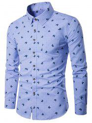 Butterflies Polka Dot Print Pocket Shirt