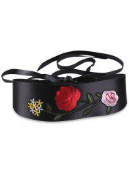 Chinoiserie Flowers Embroidered Retro Corset Belt