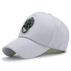 Alloy Lion Door Buckle Embellished Baseball Cap