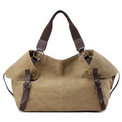 Canvas Contrast Handle Weekender Bag