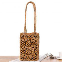 Hollow Out Straw Shoulder Bag
