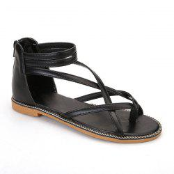 Chain Cross Strap Sandals