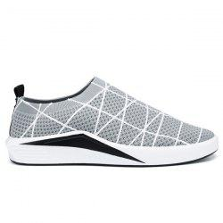 Geometric Pattern Mesh Casual Shoes