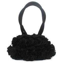 Petals Satin Wristlet Evening Bag