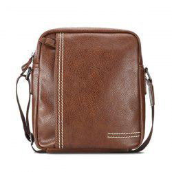 Stitching Pebble PU Leather Crossbody Bag