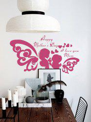 Vinyl Heart Happy Mothers day Wall Sticker