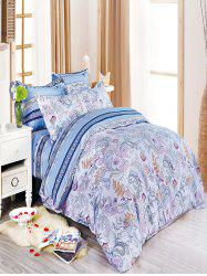 Queen Size Manjusaka Flower Print Super Soft 4Pcs Bedding Set