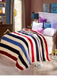 Striped Super Soft Sofa Bedding Nap Throw Blanket - COLORMIX