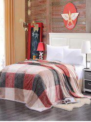 Plaid Print Super Soft Sofa Nap Bedding Throw Blanket - MULTICOLOR