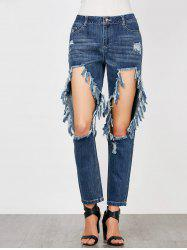 Cat's Whisker Hole Ripped Jeans
