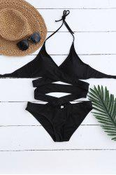 One Piece Cami Halter Wrap Swimsuit