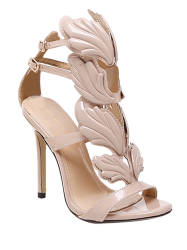 Stiletto Heel Double Belt Buckle Sandals