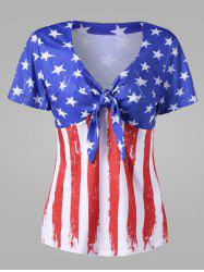 Empire Waist American Flag Plus Size T-Shirt -