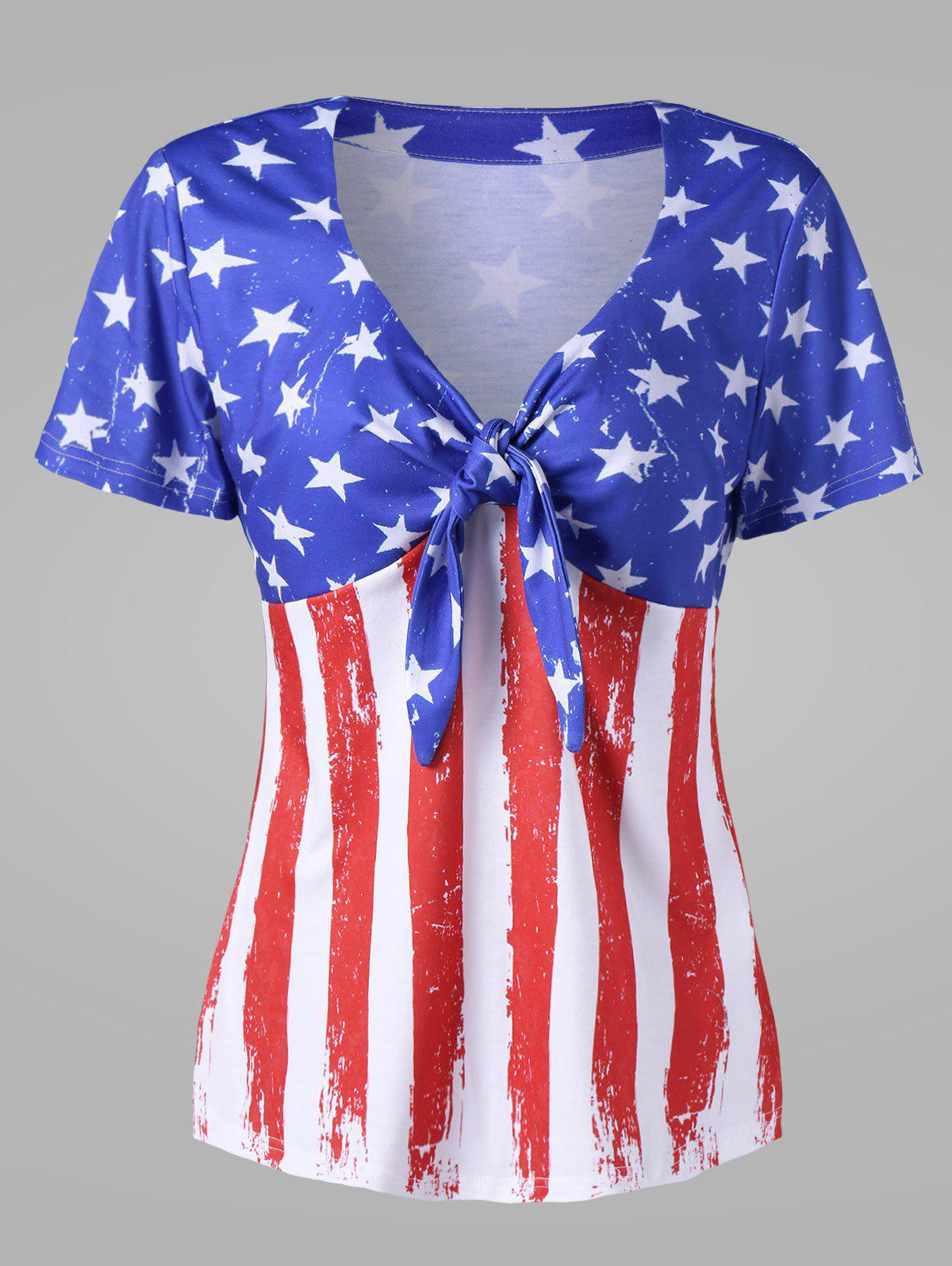 Buy Empire Waist American Flag Plus Size T-Shirt