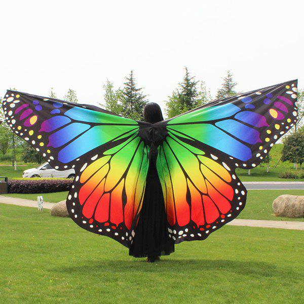Butterfly Wing Waterproof Ombre Cape Chiffon PashminaACCESSORIES<br><br>Color: COLORFUL; Scarf Type: Scarf; Group: Adult; Gender: For Women; Style: Fashion,Novelty; Material: Polyester; Pattern Type: Print; Season: Fall,Spring,Summer,Winter; Scarf Length: 260CM; Scarf Width (CM): 150CM; Weight: 0.1600kg; Package Contents: 1 x Scarf;