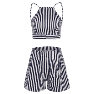 Backless Crop Top and Wide Leg Shorts -