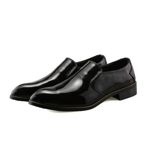 Patent Leather Pointed Toe Formal Shoes - BLACK 40