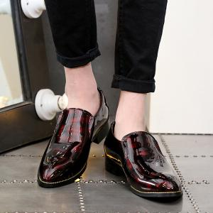 Patent Leather Pointed Toe Formal Shoes -