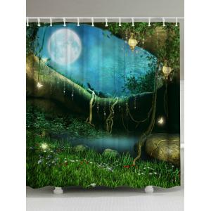 Mew Forest Anti-bacteria Fabric Shower Curtain