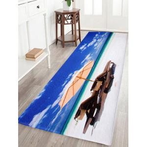 Coral Velvet Beach Scenic Area Rug - Blue - W16 Inch * L47 Inch