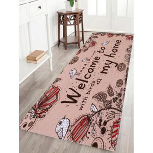 Pastoral Indoor Outdoor Coral Velvet Area Rug