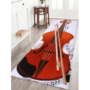 Soft Coral Fleece Cello Pattern Area Rug - Colormix - W16 Inch * L47 Inch