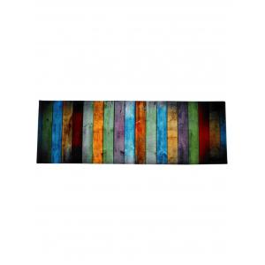 colorful stripe coral velvet large area rug colormix w16 inch l47 inch