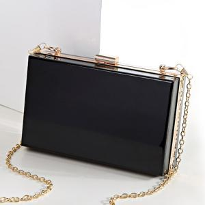 Snake Chain Metal Trimmed Evening Bag -