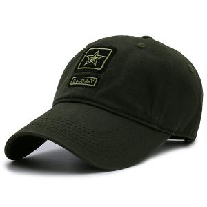 Pentagram Embellished Army Element Baseball Hat - Army Green