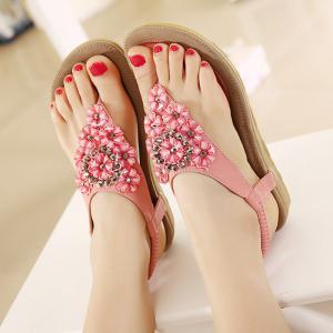 Chaussures en strass Blossom Thong -