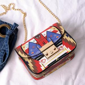 Print Chains Mini Crossbody Bag -