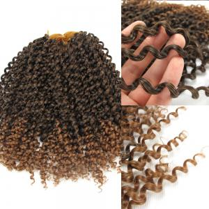 Afro Jerry Curl Shaggy Synthetic Hair Extension - White + Black + Yellow