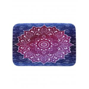 Mandala Coral Fleece Water Absorption Rug - Purple - W16 Inch * L24 Inch
