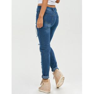 Lace Insert Jeans Skinny Ripped -