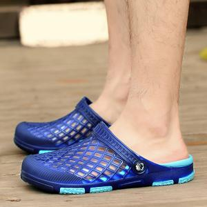 Plastic Hollow Out Slippers - BLUE 43