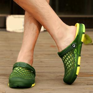 Plastic Hollow Out Slippers -