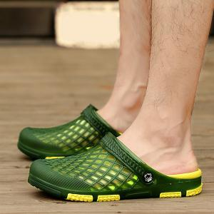 Plastic Hollow Out Slippers - GREEN 41
