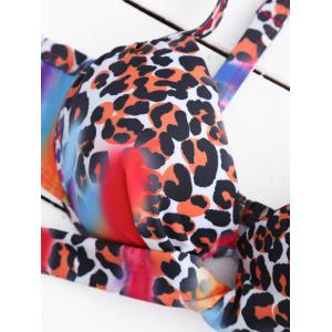 Tie Dye Leopard Push Up Bikini -