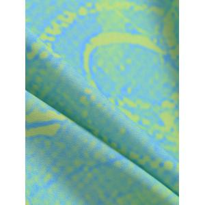 Flower Print Round Tie Dye Beach Throw - LIGHT GREEN ONE SIZE