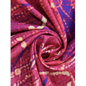 Flower Print Round Tie Dye Beach Throw -