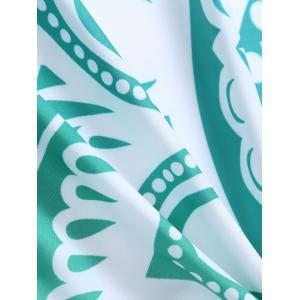 Lotus Flower Round Beach Cover Throw - GREEN ONE SIZE
