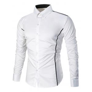 Long Sleeve Linellae Button Down Slim Fit Shirt