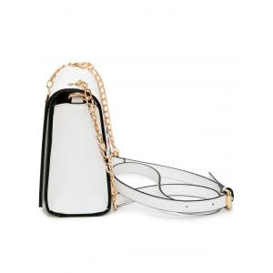 Chain Envelope Printed Crossbody Bag - WHITE