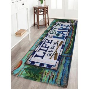 Life Quote Coral Velvet Large Area Rug