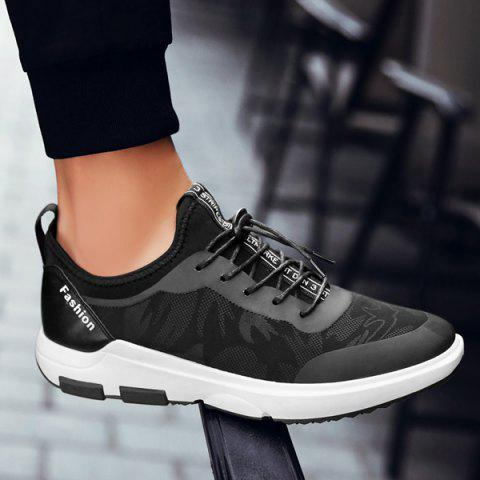 Chic Faux Leather Printed Athletic Shoes BLACK 40
