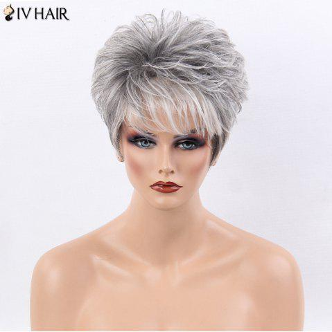 Shop Siv Hair Ultra Short Shaggy Side Bang Straight Colormix Human Hair Wig