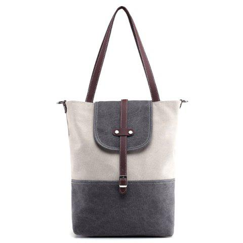 New Canvas Color Block Shoudler Bag