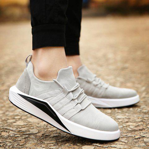 New Suede Insert Printed Casual Shoes