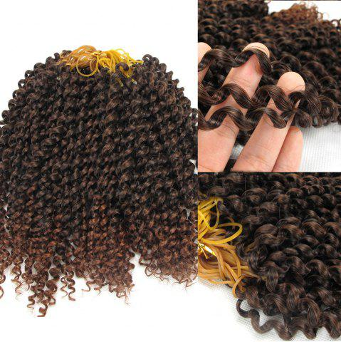 Hot Afro Jerry Curl Shaggy Synthetic Hair Extension GRADUAL BROWN