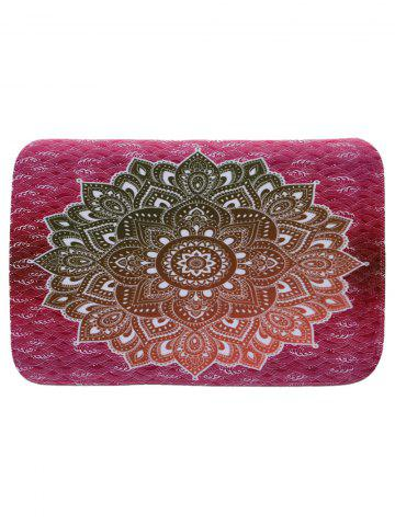 Mandala Coral Fleece Water Absorption Rug - Rose Red - W16 Inch * L24 Inch